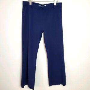 Betabrand Ponte Bootcut Yoga Pants Blue Petite XL